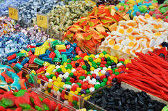 Many colorful candies Royalty Free Stock Photo