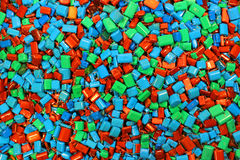 Many colorful capacitors as electronics background Stock Image