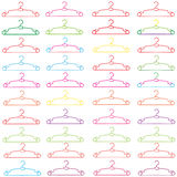 Many colorful clothes hanger Royalty Free Stock Photography