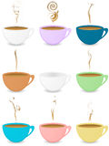 Many colorful coffeecups Stock Photos