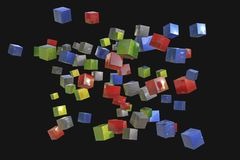 Many colorful cubes Royalty Free Stock Photography