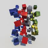 Many colorful cubes Royalty Free Stock Image