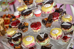 Many colorful cupcakes Royalty Free Stock Photos