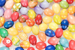 Many colorful Easter eggs Stock Photos