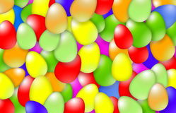 Many colorful Easter eggs Royalty Free Stock Images
