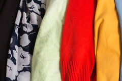 Many Colorful Fabric Cloth Textures With Patterns Royalty Free Stock Photo