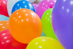 Colorful funny balloons. Many colorful funny and balloons Royalty Free Stock Photography