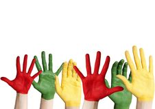 Many colorful hands Stock Images