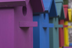 Many colorful houses for birds 2 Stock Photo