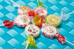 Many colorful lollipops Royalty Free Stock Photography
