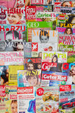 Many colorful magazines Stock Image