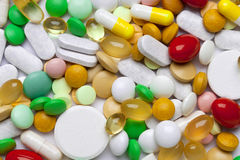 Many colorful medicines Royalty Free Stock Images