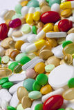 Many colorful medicines Stock Image