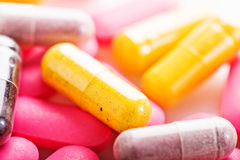 Many colorful medicines. Stock Images