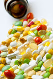 Many colorful medicines Royalty Free Stock Photos