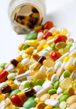 Many colorful medicines Stock Photos
