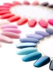 Many colorful nail varnishes Stock Photo