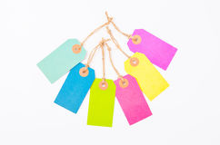 Many colorful of paper tag price. Stock Photos