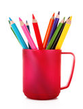 Many colorful pencils Stock Images