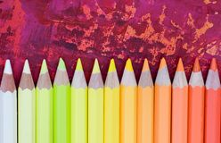 Many colorful pencils Royalty Free Stock Images