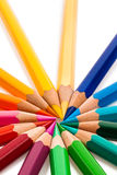 Many colorful pencils Royalty Free Stock Photos