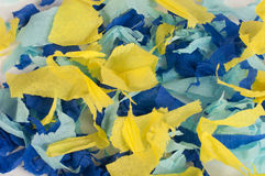 Many colorful pieces of torn paper. Background of many colorful pieces of torn paper Stock Photography