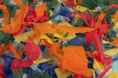 Many colorful pieces of torn paper Royalty Free Stock Photo
