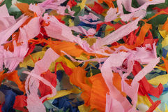 Many colorful pieces of torn paper. Background of many colorful pieces of torn paper Royalty Free Stock Images