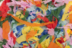 Many colorful pieces of torn paper Stock Image