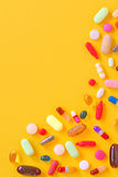 Many colorful pills isolated Royalty Free Stock Photos