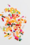 Many colorful pills Stock Images