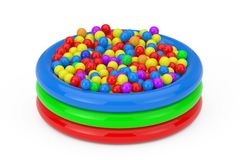 Free Many Colorful Plastic Balls Filled Children Pool. 3d Rendering Stock Photos - 154091213