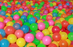 Free Many Colorful Plastic Balls In A Kids` Ball Pit At A Playground Stock Photo - 145742820