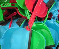Plastic dustpan Stock Photos