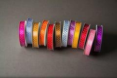 Many colorful ribbons stock photos