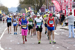 Many Colorful Runners Competing in Comrades Marathon Stock Photo