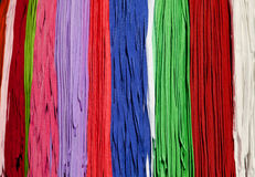 Many colorful shoestrings Royalty Free Stock Photo