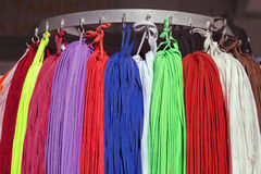 Many colorful shoestrings Stock Photography