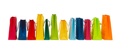 Many colorful shopping bags Royalty Free Stock Photos