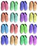 Many colorful sneaker shoes on white background. Many colorful sporty sneaker shoes on white background stock photography