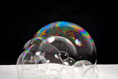 Many colorful soap bubbles Royalty Free Stock Image