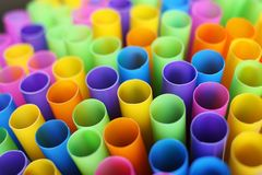 Many colorful straws as sign for heterogeneity or teamwork. Royalty Free Stock Photo