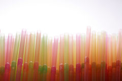 Many colorful straws Stock Photos