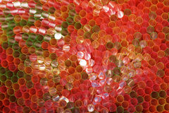 Many colorful straws Royalty Free Stock Photo