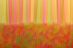Many colorful straws Stock Photography