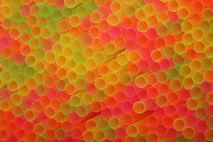 Many colorful straws Stock Images