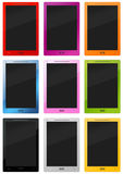 Many colorful stylish tablet - pc Royalty Free Stock Images