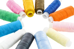 Many colorful threads Royalty Free Stock Photography