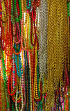 Many colorful threads hanging beads Stock Photos