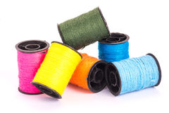 Many colorful threads Royalty Free Stock Images